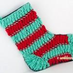 L'originale calza della Befana tutta in lana