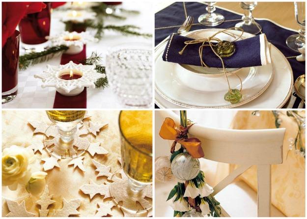 Come apparecchiare la tavola di natale - Decorazioni tavola capodanno fai da te ...