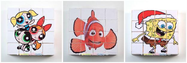 cubi di legno, puzzle per bambini, gioco puzzle cubi, puzzle fai da te, fai da te,
