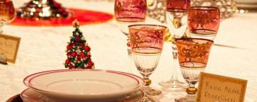 tavola di natale, decorazioni per la tavola, segnaposti, decorazioni in swarosky, cristallo boemia,
