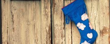 La calza della Befana fai da te con una vecchia sciarpa