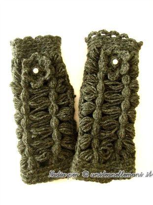 manicotti di lana, manicotto a maglia, manicotti, lavori al telaio stecca, lavori col telaio di maria giò,