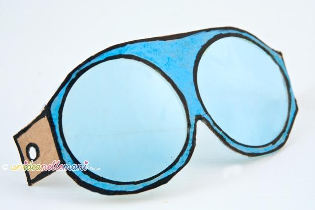 costume aviatore, occhiali aviatore, occhiali motociclista, occhiali fai da te, occhiali di cartone, occhiali carnevale, maschere fai da te, maschere carnevale, lavoretti cartone,