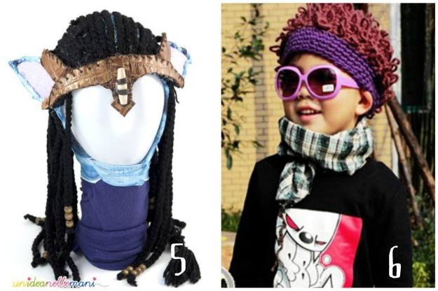 parrucca avatar, parrucca all'uncinetto, parrucca di lana, parrucca riccioli, parrucche carnevale, parrucca fai da te, wigs with wool,