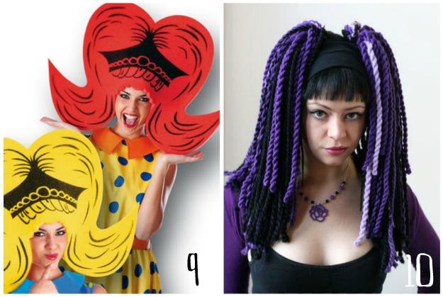 parrucche divertenti, parrucche fai da te, parrucche di carnevale, parrucche con la lana,