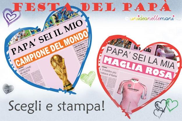 Biglietti Auguri Festa Del Papà Le Finte Prime Pagine Di Giornale