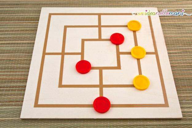 Popolare Giochi per bambini da costruire in casa: la dama fai da te PF46