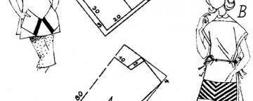 Cartamodelli per tagliare e cucire due pratici grembiuli a c...