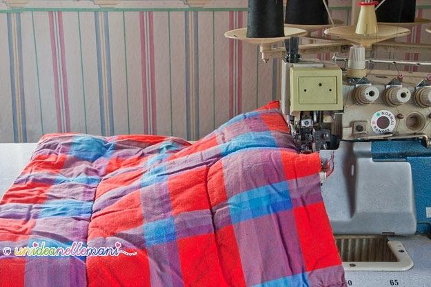 riciclare coperte, riciclo coperte, schema taglio e cucito, taglia e cuci, copriletto, come fare un copriletto, fare una coperta, fare un piumone, coperta singola, coperta matrimoniale, coperta una piazza e mezzo, letto alla francese