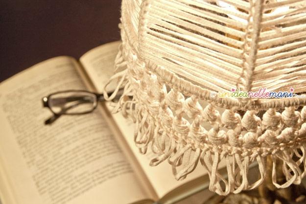 Rinnovare una vecchia lampada -> Paralume Lampadario Fai Da Te