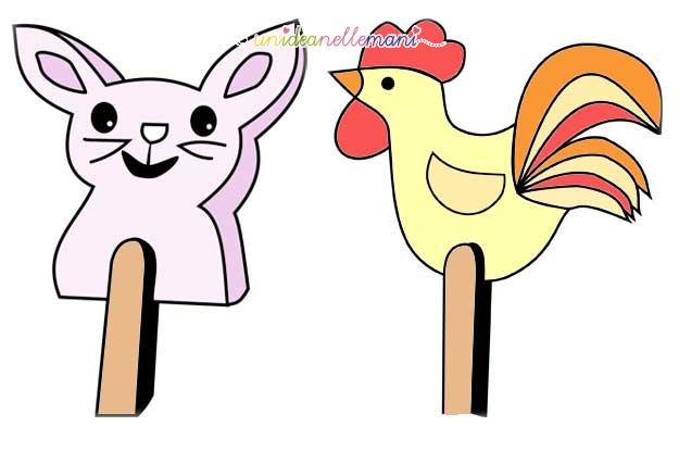 coniglio pasquale, disegno coniglio, disegno gallina, disegni pasqua, disegni ritagliare pasqua,