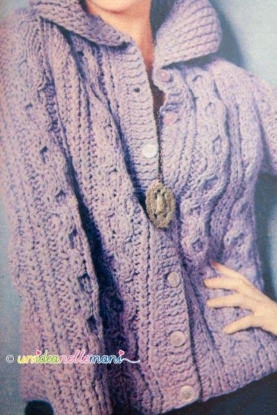 maglia vintage, maglia anni 60, giacca anni 60, maglia retrò, maglione ferri, knit, maglia,