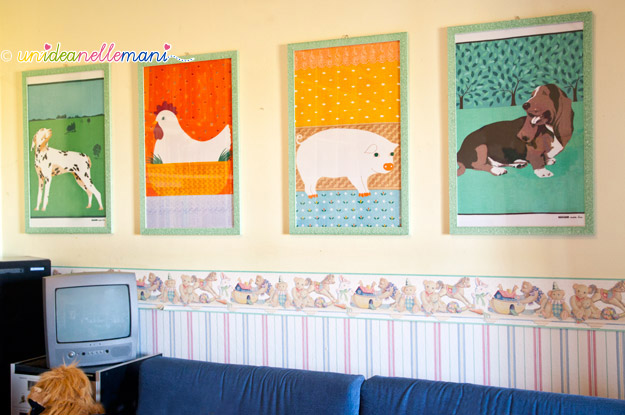 strofinacci, canovacci, asciughini, quadri cameretta, quadri cameretta bambini, decorare cameretta bambini,