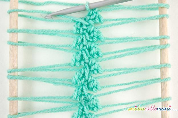 uncinetto, maglia bassa, maglia alta, uncinetto forcella, forcella uncinetto, lavorazione forcella, lavori forcella, punti uncinetto, strisce forcella,