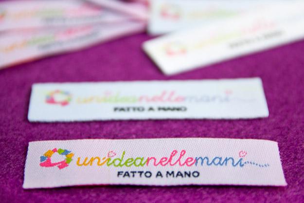 etichette tessute, etichette personalizzate, etichette fai da te, etichette stampate, etichette stoffa, timbro etichette, etichette logo, stampare su stoffa,