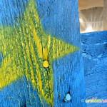 stella dipinta, lavori con le tempere, tempere crayola,