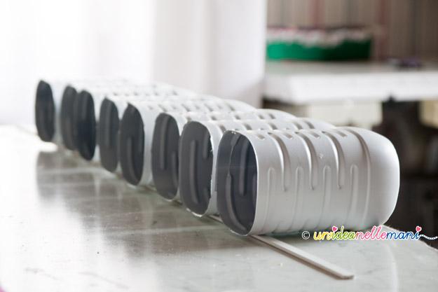 portapenne, portapenne fai da te, riciclo bottiglie plastica, craft organizer,