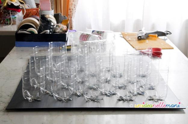 riciclo bottiglie plastica, lavoretti bottiglie plastica, bottiglie riciclate, creare con le bottiglie