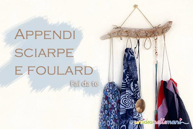 appendi sciarpe, appendi foulard, appendi collane, appendi cinture, organizer, fai da te,