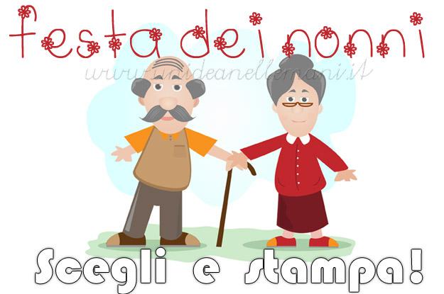 Auguri Matrimonio Dai Nonni : Festa dei nonni biglietti di auguri da stampare