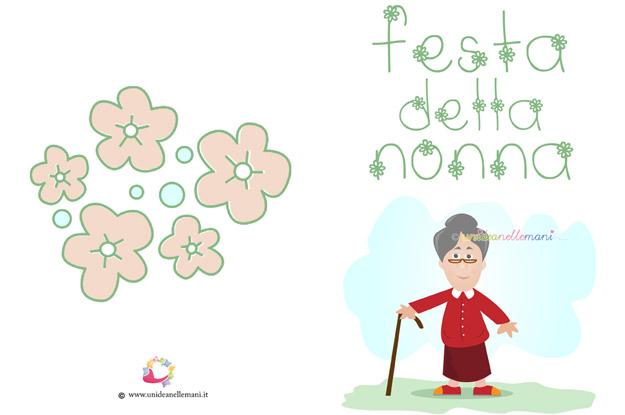 biglietti auguri festa dei nonni, festa dei nonni, biglietti auguri da stampare, biglietti auguri nonna, nonna,