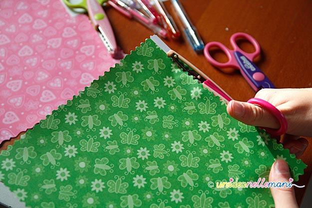 lavoretti per bambini, lavori carta, etichette scuola, forbici decorative, forbici bambini,