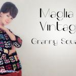 Moda Vintage: il maglioncino con le piastrelle ad uncinetto