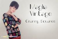 maglia vintage, piastrelle uncinetto, mattonelle uncinetto, granny squares,