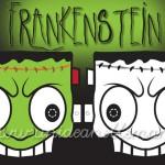 Frankenstein, maschera da frankenstein, maschere halloween, maschere da stampare, maschere da colorare, maschere mostri, maschere paurose,