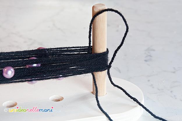 telaio di legno, telaio claretta, telaio per fare braccialetti,