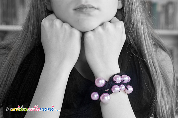 braccialetti fai da te, braccialetti con perline, braccialetti con fili di lana, braccialetti originali, braccialetti perle,