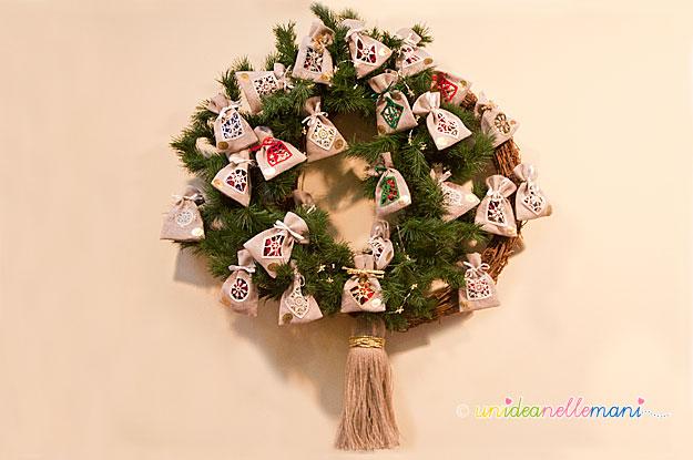 calendario avvento, ghirlanda natalizia, decorazione natale, ghirlanda natale,
