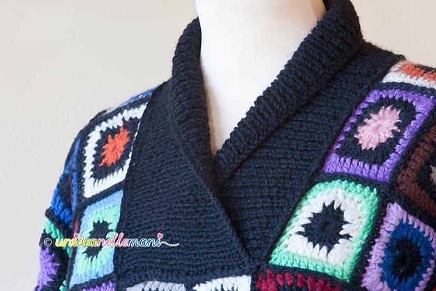 collo a maglia, schema collo maglia, modello collo, collo a ferri, collo per maglione,