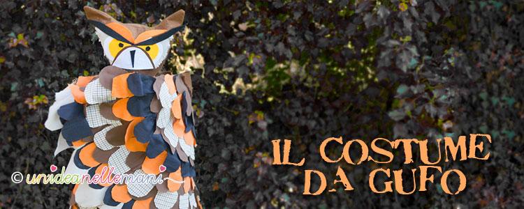costume da gufo, costume carnevale fai da te, costume halloween,