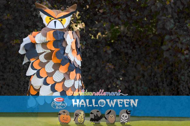 costumi halloween, costume da gufo, costume gufo fai da te, costumi halloween fai da te, costumi carnevale fai da te, maschera gufo,