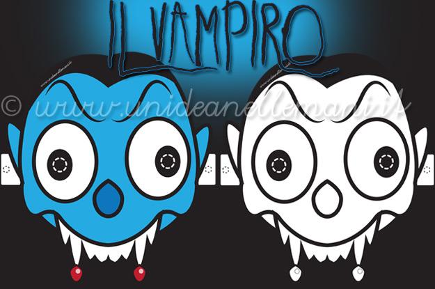 maschera da vampiro, maschera da dracula, maschere halloween, maschere mostri, maschere da stampare, maschere da colorare, maschere paurose,