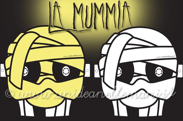maschera da mummia, maschere da stampare, maschere da colorare, maschere mostri, maschere halloween,