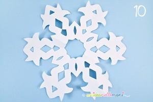 ... di neve da appendere, fiocchi di neve per vetri, decorazioni di carta
