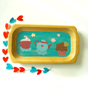 vassoio, vassoio fatto a mano, vassoio dipinto a mano, vassoio decoupage, vassoio decorato,