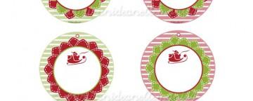 Set di Tag natalizie da stampare per pacchetti regalo