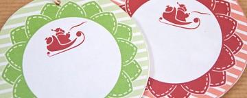 Biglietti Auguri di Natale: 6 Gift Tags da Stampare