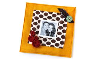 portafotografie fai da te, idee s. valentino, album fotografie in stoffa, scrap album, regalo fai da te s. valentino
