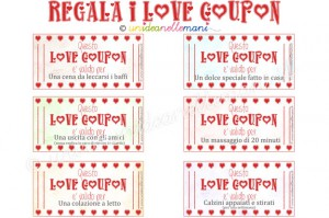 biglietti san valentino da stampare, idee san valentino, regali fai da te san valentino, regali fai da te per lui, love coupon,