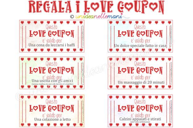 Super Biglietti San Valentino da Stampare: hai mai regalato i Love Coupon? SN24