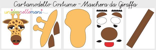 costume da giraffa, costume giraffa fai da te, costumi carnevale cartamodelli, maschera da giraffa, maschera da giraffa da stampare
