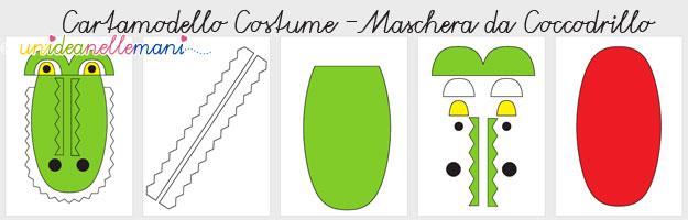 costume da coccodrillo, costume coccodrillo fai da te, costumi carnevale cartamodelli, maschera da coccodrillo, maschera da coccodrillo da stampare