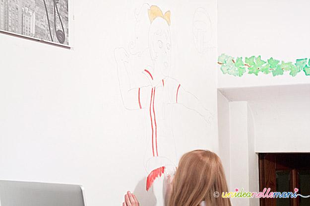 disegnare sul muro