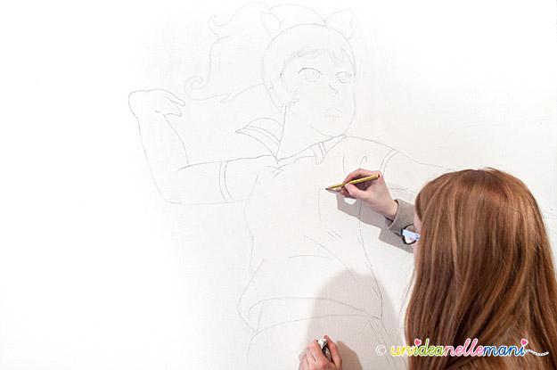 disegni sul muro