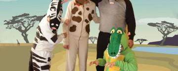 Costumi di carnevale per gruppo: gli animali della savana