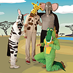 costumi carnevale da animali della savana